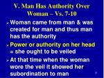 v man has authority over woman vs 7 103