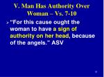 v man has authority over woman vs 7 106