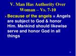 v man has authority over woman vs 7 108