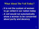 what about the veil today