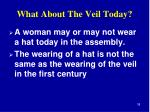 what about the veil today2