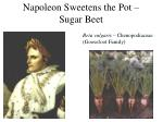 napoleon sweetens the pot sugar beet