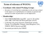 terms of reference of wggna