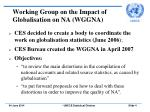 working group on the impact of globalisation on na wggna