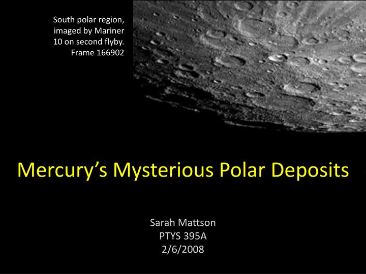 mercury s mysterious polar deposits n.