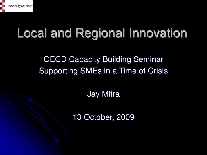 local and regional innovation n.