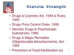 statute strength