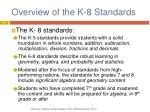 overview of the k 8 standards