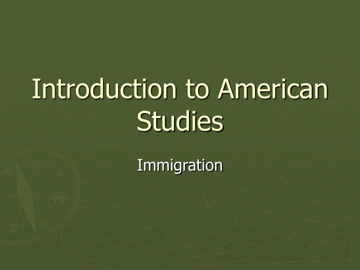 introduction to american studies n.