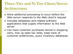 three tier and n tier client server architectures
