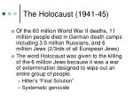 the holocaust 1941 45