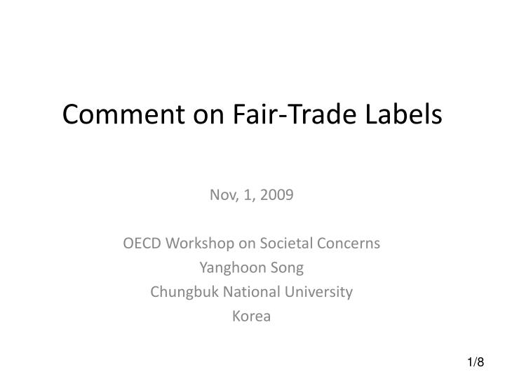 comment on fair trade labels n.