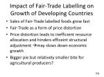 impact of fair trade labelling on growth of developing countries