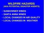 wildfire hazards aka potential disaster agents1