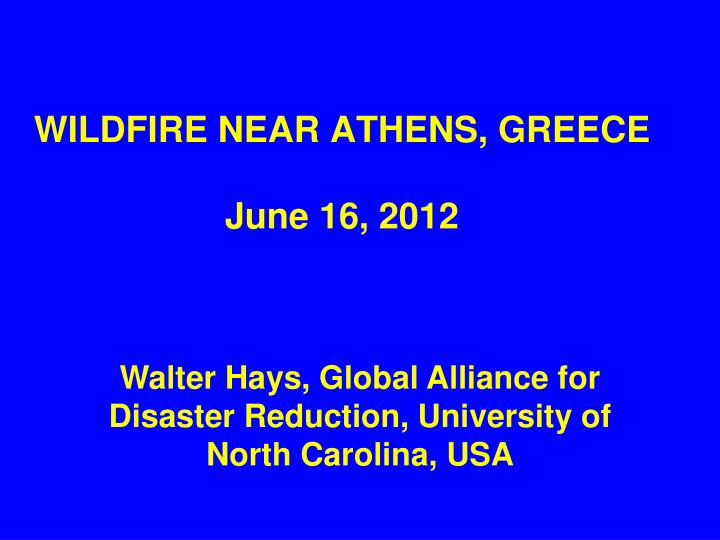 wildfire near athens greece june 16 2012 n.
