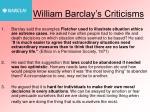 william barclay s criticisms