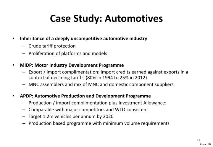 Case Study: Automotives