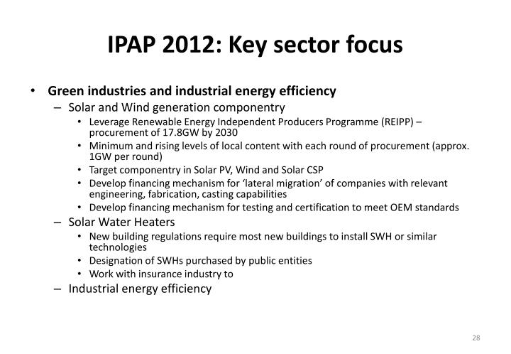 IPAP 2012: