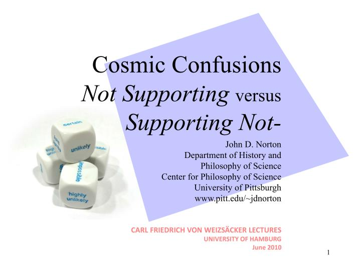 cosmic confusions not supporting versus supporting not n.