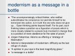 modernism as a message in a bottle