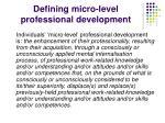 defining micro level professional development