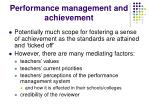 performance management and achievement
