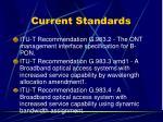 current standards3