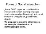 forms of social interaction