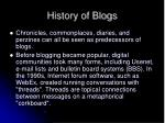history of blogs