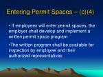entering permit spaces c 4