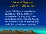 federal register jan 14 1993 p 4477