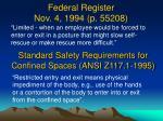 federal register nov 4 1994 p 55208