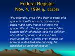 federal register nov 4 1994 p 552081