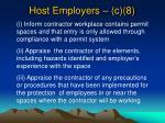host employers c 8