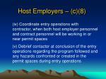 host employers c 81