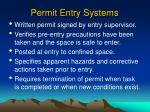 permit entry systems