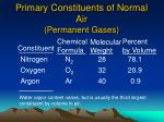 primary constituents of normal air permanent gases