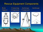rescue equipment components