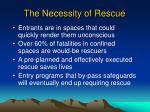 the necessity of rescue