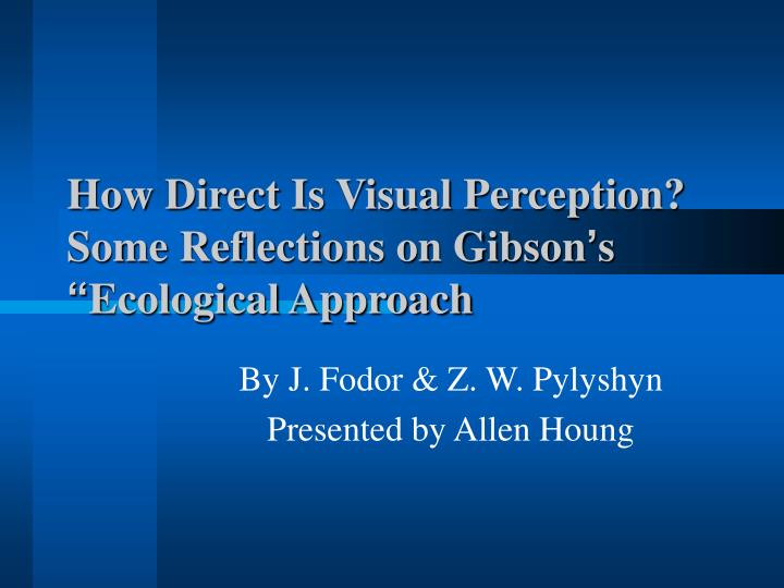 gibson s theory of perception