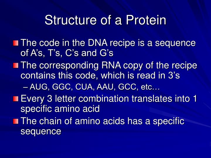Structure of a Protein