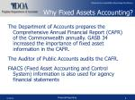 why fixed assets accounting