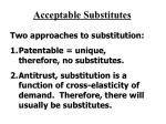 acceptable substitutes