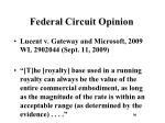 federal circuit opinion