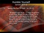 humble yourself genesis 33 3 112