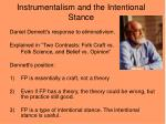 instrumentalism and the intentional stance