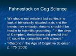 fahnestock on cog science