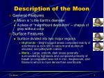 description of the moon