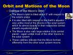 orbit and motions of the moon1