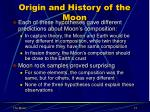 origin and history of the moon1